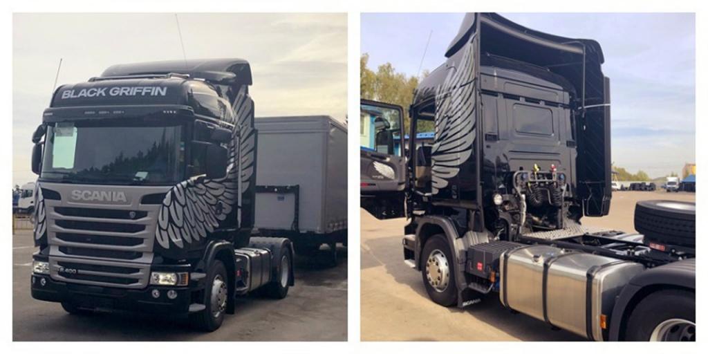 Scania R400LA 4X2 Black Griffin